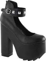 summitfashions womens chunky platform heels black pumps vegan leather shoes 6 1 4 inch heels com