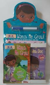 Watch Me Grow Chart Disney Doc Mcstuffins Watch Me Grow Storybook Growth Chart Gift Set