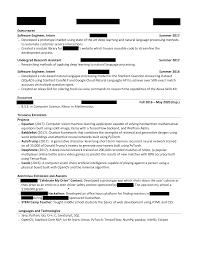 resume for undergraduate computer science undergraduate preparing resume for summer