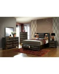 Amazing Deals on Espresso Finish California King Size Bed w Bookcase ...