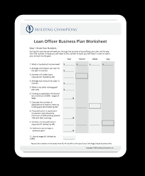 business plan for loan officers