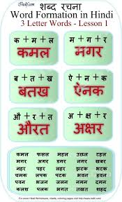 read 3 letter words hindi worksheets