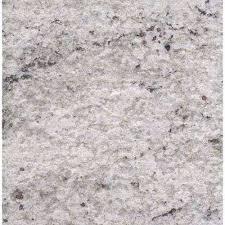 3 in x 3 in granite countertop sample in cotton white satin