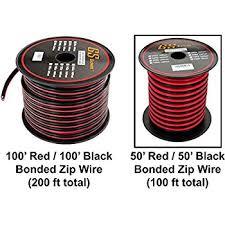 amazon com 50' audiopipe 10 ga gauge red black zip wire speaker car radio harness wire gauge at Car Audio Harness Wire Gauge