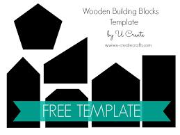 wooden building block set free template