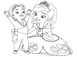 imprimir gratis dibujos para colorear la princesa sofía