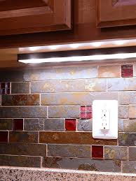 rusty brown and gray color slate mosaic kitchen backsplash tile