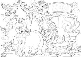 Small Picture Zoo Coloring Pages The Zoo Animal Cardsjpg Coloring Page mosatt