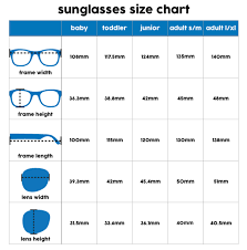 Glasses Lens Size Chart Kids Sunglasses Size Chart Size Charts For Shirts And Shoes
