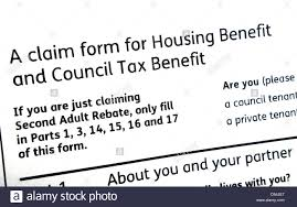 Housing Benefit Form A Claim Form For Housing And Council Tax Benefit Stock Photo 16
