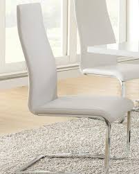 Buy Modern Dining White Faux Leather Chair with Chrome Legs, Set of 4 Online - JP Interiors Legs