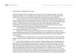 movie review of remember the titans university media studies document image preview