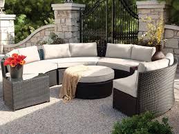 belham living meridian round outdoor wicker patio furniture set with regarding outdoor patio furniture