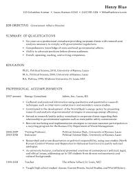 Chronological Resume Sample Government Affairs Director