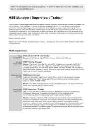 Sample Resume For Safety Coordinator In Singapore Valid Best Hse