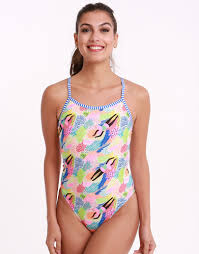 Dive Deep Double Strap Back Swimsuit Multi
