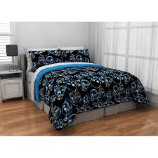 Skull Bedroom Decor Latitude Graphic Skull Bed In A Bag Bedding Set Walmartcom