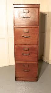 large edwardian 4 drawer oak filing cabinet antique