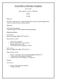 truck driver resume template samples free ...