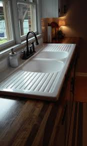 other kitchen double farmhouse sink with drainboard