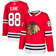 Men's Patrick Chicago Adidas Player Red Jersey Kane Authentic Blackhawks