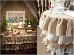 4. Rustic Burlap Table Skirts