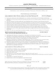 Sample Paralegal Resume Criminal Sidemcicek Com