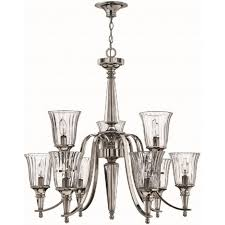 chandon classic silver sterling and crystal chandelier 9 lights