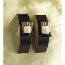 wholesale sleek modern style wall candle sconces pair  zen wall