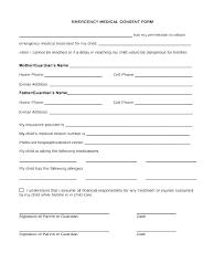 Printable Medical Release Form For Children Medical Consent