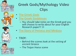 title greek mythology do now ppt video online  the greek gods the greek goddesses you should take notes on the greek god you will choose to write about for your english research paper