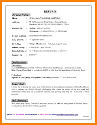Sample Profile For Resume Sample Profile Image Examples And Forms 20