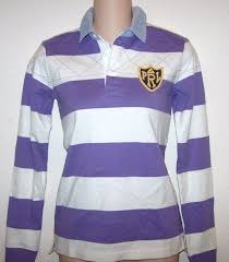 details about ralph lauren lavender purple white striped rugby polo shirt gold crest nwt xl
