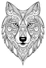 Grand Loup Coloriages D Animaux 100 Mandalas Zen Anti Stress