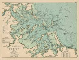 Boston Harbor Chart Boston Harbor Ma Colored Nautical Chart
