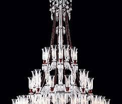 sy baccarat crystal chandelier zenith red and clear 84 light