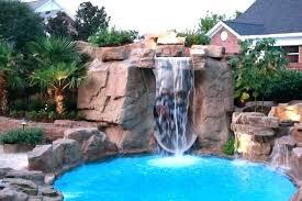 inground pool waterfalls. Inground Pool With Waterfall Waterfalls Slides Ideas Kits .