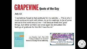 Aa Grapevine Quote Of The Day