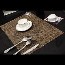 pvc insulation pad placemat green dining table kitchen placemats