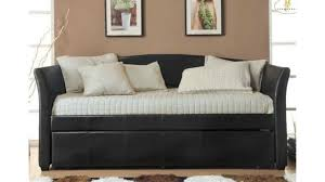 homelegance meyer 4956pu bi cast vinyl daybed with trundle dark brown you