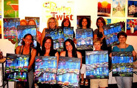 teachers receive a 10 percent in july and august at the painting with a twist