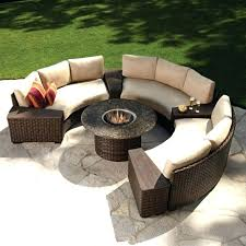 round outdoor sofa large size of patio sectional wicker circular couch curved canada furniture cushions