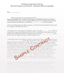 8 producer contract templates producing for artist contracts producing for record pany contracts all producer artist label