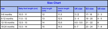 Foot Length To Shoe Size Chart Leather Baby Shoes Size Chart Hippofeet