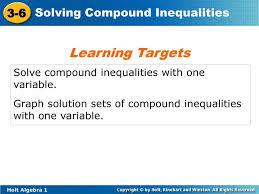 graph solution sets of compound