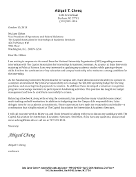 Sample Cover Letter Student 5 Undergraduate Example Letters