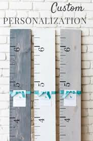 White Growth Chart Personalized Wooden Growth Chart