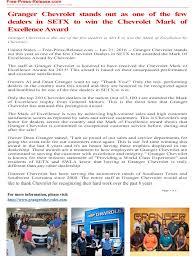 new car dealership press releaseGranger Chevrolet is a Orange Chevrolet dealer and a new car and