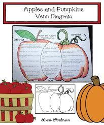 Pumpkin Venn Diagram Apples Pumpkins Venn Diagram Classroom Freebies