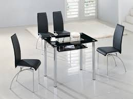 small glass dining table sets home furniture intended for black inspirations 0